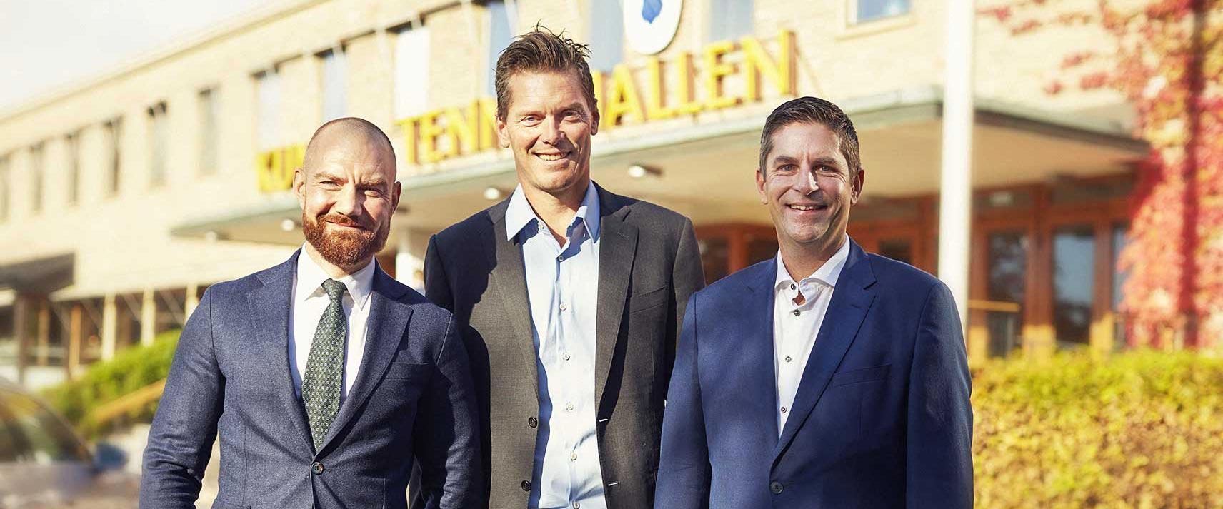 Stefan, Thomas & Jamie utanför Kungliga Tennishallen